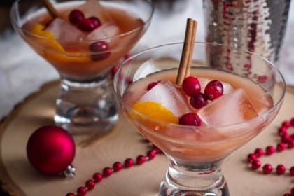 Spiced Cranberry Rum Old Fashioned