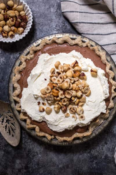 Boozy Chocolate Hazelnut Cream Pie Picture