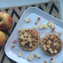 5 Minute Apple Peanut Butter Waffles