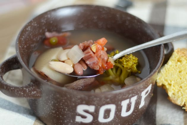 Slow Cooker Ham and Bean Soup Picture
