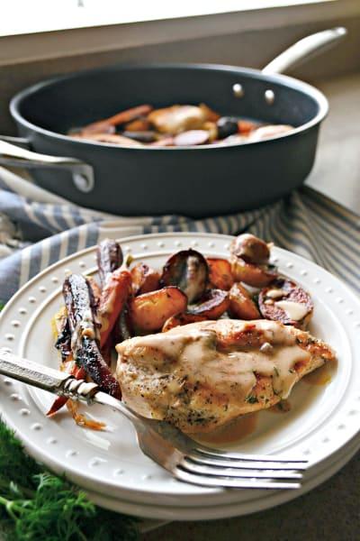 One Pot Chicken Vegetable Skillet Image