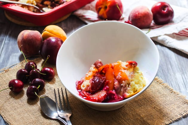 Stone Fruit Cobbler with Bourbon Photo