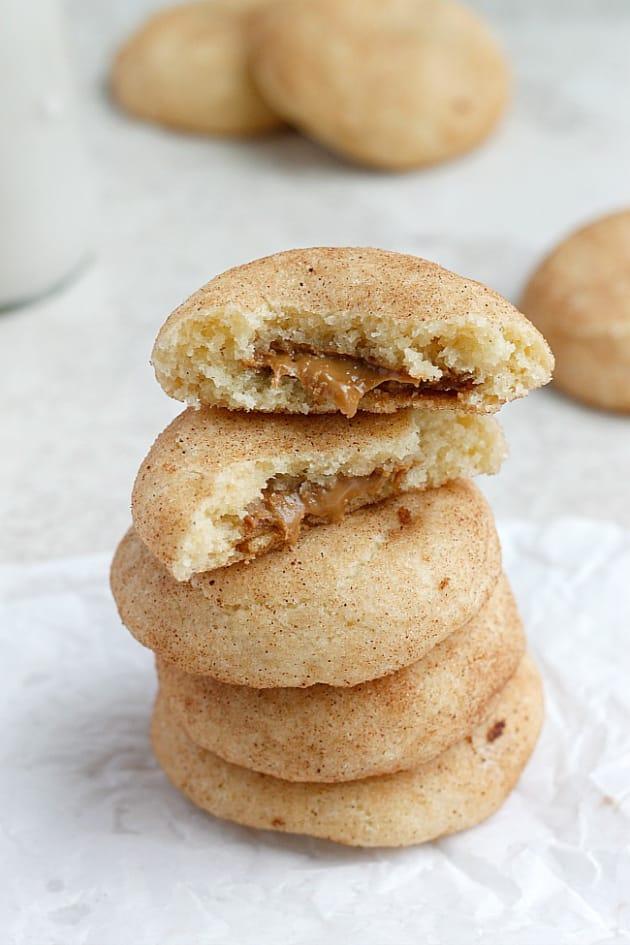 Biscoff Stuffed Vanilla Bean Snickerdoodles Image