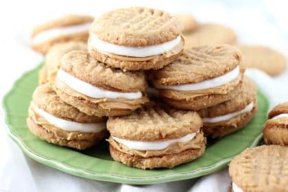 Fluffernutter Cookie Sandwiches