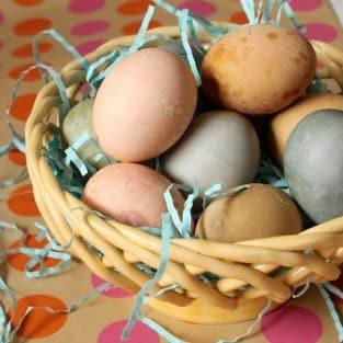 Homemade easter eggs photo