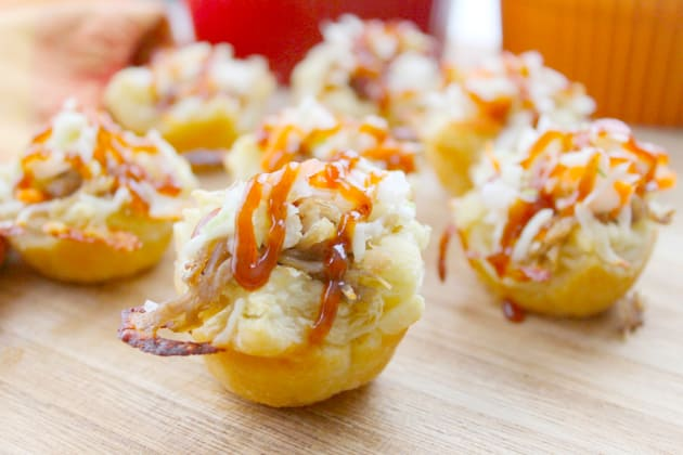 BBQ Shredded Pork Cups with Cheese Photo