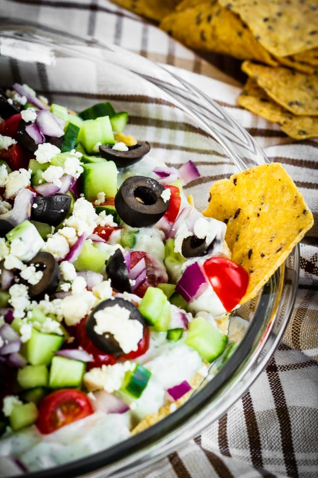 Greek 7 Layer Dip Picture