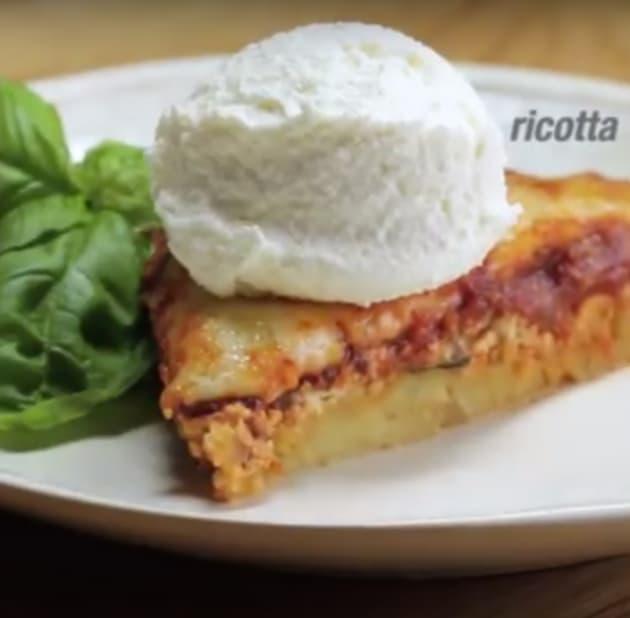 Spaghetti Pie with Ricotta