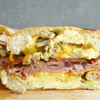 Breakfast Dagwood Sandwich Recipe