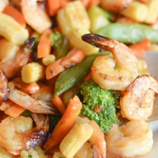 Gluten free air fryer honey garlic shrimp photo