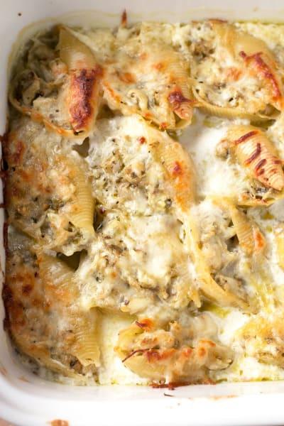 Chicken Avocado Pesto Stuffed Shells Picture