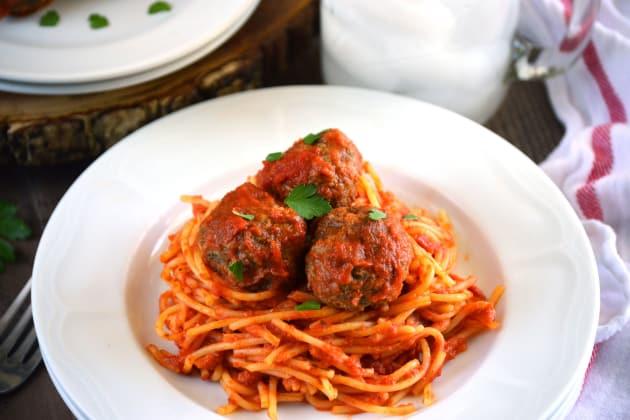 Gluten Free Baked Italian Meatballs Image