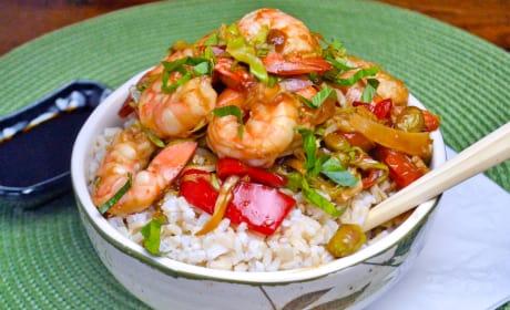 Asian Shrimp Rice Bowls Pic