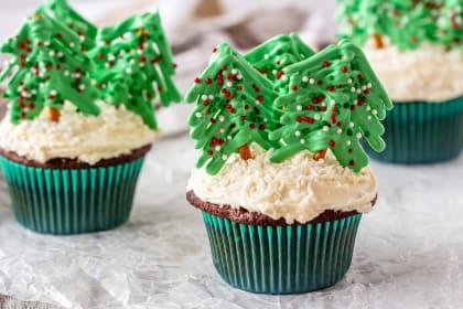 圣诞树纸杯蛋糕食谱