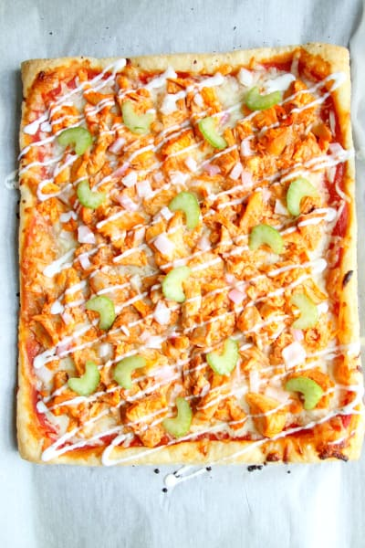Buffalo Chicken Puff Pastry Pizza Image