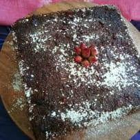 Dark chocolate muesli cake