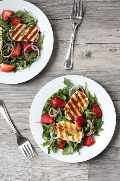 Grilled Halloumi Strawberry Salad Picture