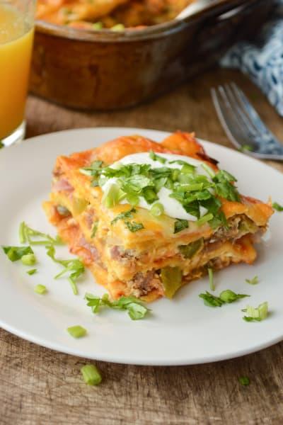Enchilada Breakfast Casserole Image