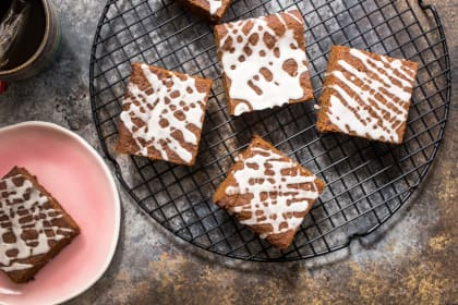 Spiked Gingerbread Bars