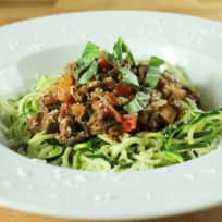 Courgetti with One Pot Ragu