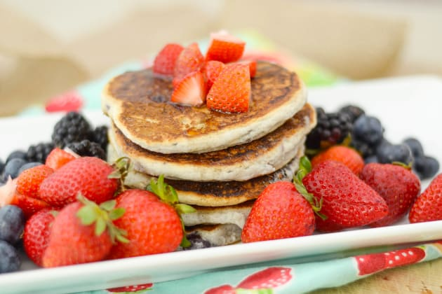 Gluten Free Pancakes with Berries Photo