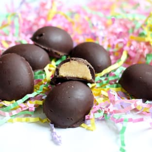 Homemade peanut butter eggs photo