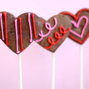 Chocolate sugar cookie pops photo