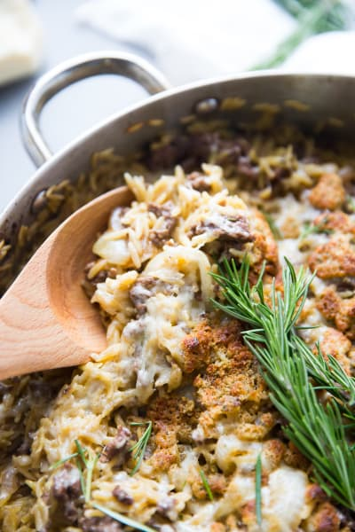 French Onion Skillet Beef Casserole Image