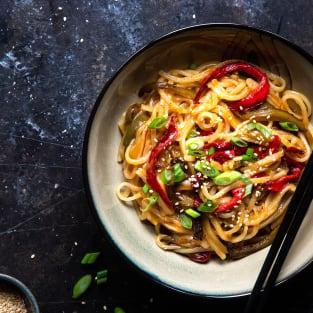 Honey garlic instant pot noodles photo