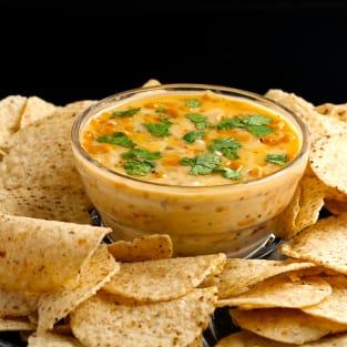 Homemade queso dip photo