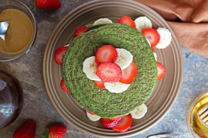Green Smoothie Pancakes Recipe