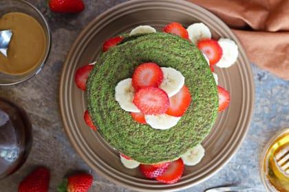 绿色冰沙薄饼配方