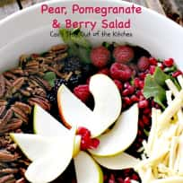 Pear, Pomegranate and Berry Salad