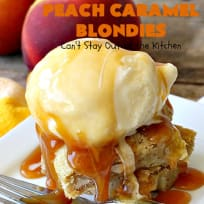 Peach Caramel Blondies