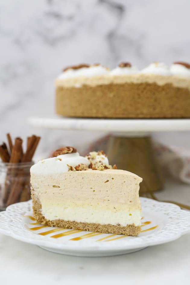 No Bake Pumpkin Mousse Cake with White Chocolate Picture