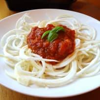 Celeriac Noodles with Marinara Sauce