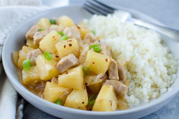 Paleo Pork Pineapple Stir Fry Image