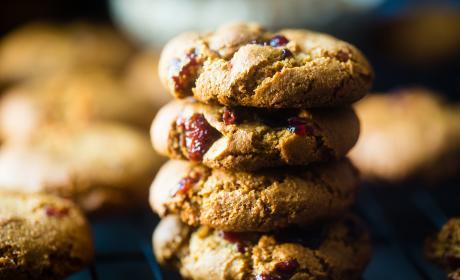 Paleo Cranberry Almond Cookies