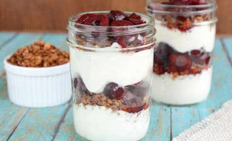 Cherry Greek Yogurt Parfaits Recipe
