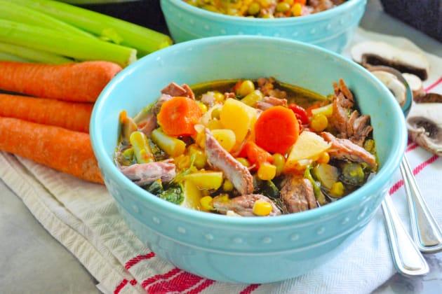 Instant Pot Vegetable Beef Soup Photo
