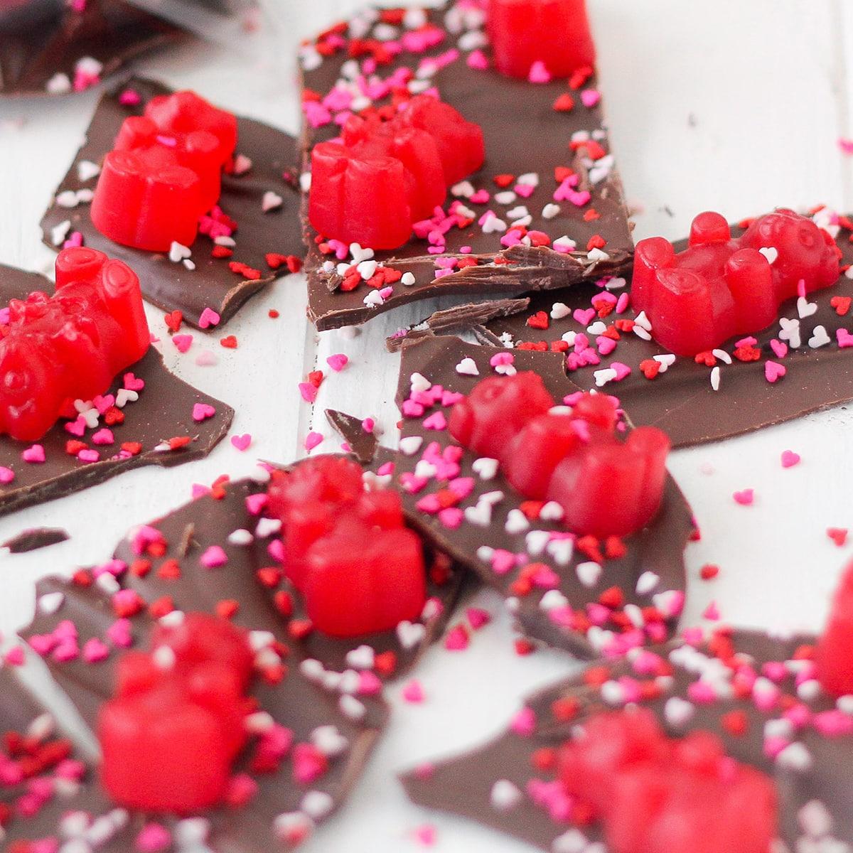 Valentine S Day Chocolate Bark Recipe Food Fanatic