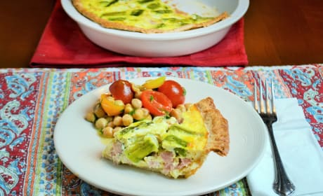 Ham and Asparagus Quiche Image
