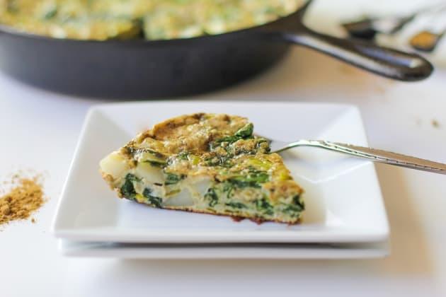 Spinach Leek Potato Frittata - Food Fanatic