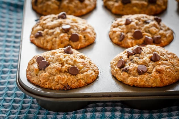 Chocolate Chip Banana Oatmeal Muffins Image