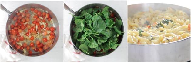 Creamy Tomato Spinach Pasta Image