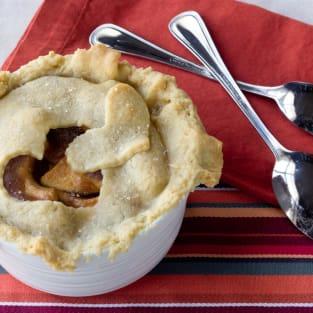 Apple pie for two photo