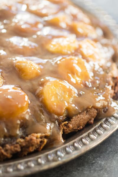 Chocolate Peanut Butter Banana Upside Down Cake Picture