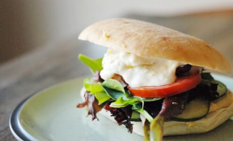 Greek Veggie Sandwich Recipe