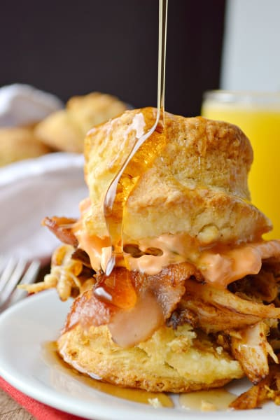 Pulled Pork Breakfast Biscuits Picture