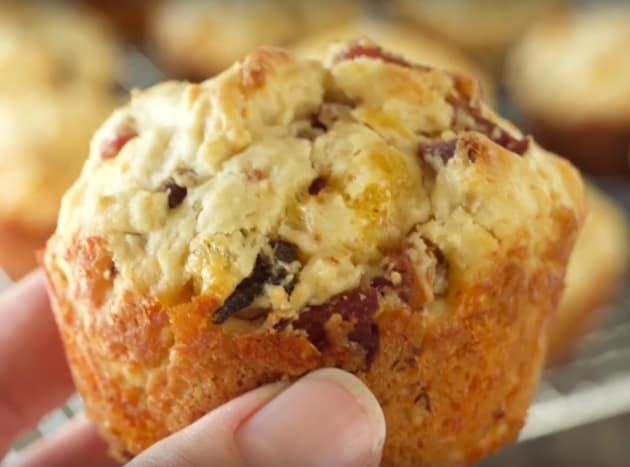 A Bacon Cheddar Muffin